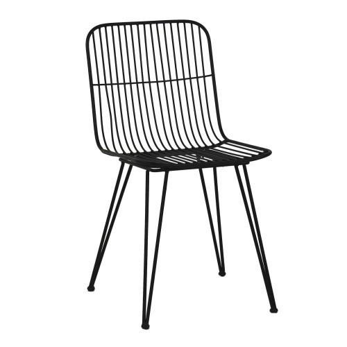 Krzesło Czarne Metalowe Ombra Krzesła Stołki I Hokery Pomax